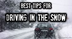 Best Tips for Driving in the Snow || If you live in the South and have limited experience or if driving in the snow makes you uneasy, here is a great place to start practicing.