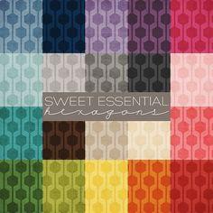 [Sweet Essential Hexagons Digital Paper by PrairieSweetBoutique, $15.00]