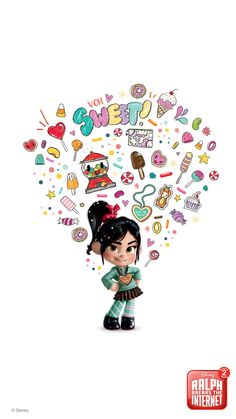 Get your phone ready for Ralph Breaks The Internet with these adorable mobile wallpapers featuring Ralph and Vanellope. Don't worry, they won't break your phone. Cute Disney Wallpaper, Wallpaper Iphone Disney, Cute Cartoon Wallpapers, Kawaii Disney, Disney Art, Disney Movies, Disney Drawings, Cartoon Drawings, Vanellope Y Ralph