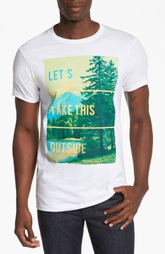 Free shipping and returns on Bowery Supply 'Outside' T-Shirt at Nordstrom.com. An ultrasoft, trim-fitting crewneck T-shirt made in America is fronted by a photographic print of nature overpowering any feelings of anger.