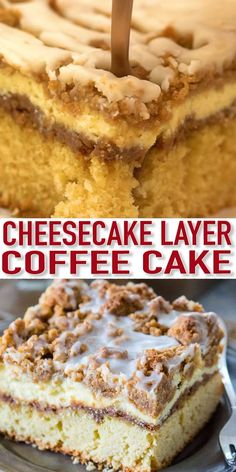 Best Ever Coffee Cake Recipe [VIDEO] – Sweet and Savory Meals This Coffee Cake is moist, and buttery, topped with cinnamon filling, vanilla cheesecake, and a sweet streusel topping. It is a delicious dessert that you will make over and over again. Food Cakes, Cheesecake Recipes, Cookie Recipes, Boxed Cake Recipes, Diabetic Cake Recipes, Eclair Cake Recipes, Sweet Potato Cheesecake, Cinnamon Cheesecake, Tiramisu Cheesecake