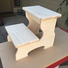 Unfinished Wood step stool kids step stool by CandlewoodFurniture