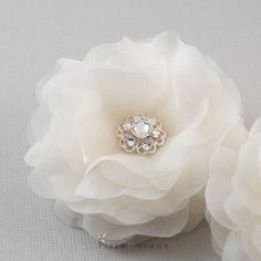 Swarovski Wedding Hair Flowers Bridal Hair Flower by FiberStone