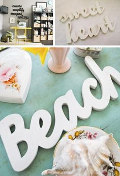 DIY: letters made out of cardboard