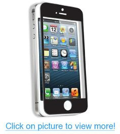 Qmadix Tempered Tech-Armor Screen Protector for iPhone 5 - 1 Pack - Retail Packaging - Clear/Black