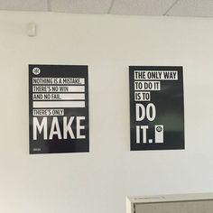 New motivational posters in the office! #justdoit #johncage #nothingisamistake #PACKhasyourBACK