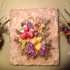 fruit of stone...by lfp (repurpose styrofoam )
