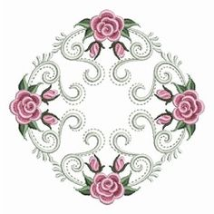 Pearl Roses Quilt 1 - 3 Sizes! | Floral - Flowers | Machine Embroidery Designs | SWAKembroidery.com Ace Points Embroidery