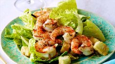 Get this all-star, easy-to-follow Caesar Salad with Grilled Shrimp recipe from Ellie Krieger