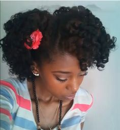 cute two strand twist roller set for curly fro...I am so going to try this!!!!