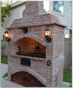 Attributes In Bbq Grilles Purchasing – Outdoor Kitchen Designs Outdoor Kitchen Patio, Pizza Oven Outdoor, Outdoor Kitchen Design, Outdoor Cooking, Backyard Patio, Outdoor Fireplace Brick, Outdoor Fireplace Designs, Backyard Fireplace, Parrilla Exterior