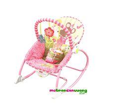 Ghế rung màu hồng xinh xắn cho bé gái ,ghế rung Fisher Price W2583 — Medium