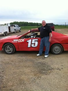 Proud Pap with Chase on his first practice at MC Speedway!