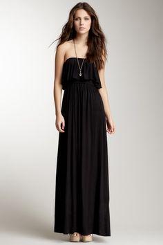 #Frenzii Strapless Ruffle Maxi Dress Maxi Dresses #2dayslook #MaxiDresses #sasssjane www.2dayslook.com