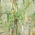 """Tendrils"" (1994), Michael Mazur; abstract artist"