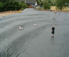 large pond liner installation | Pond liner, pondliner garden, pond liners for ponds, Pond foil
