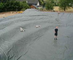 large pond liner installation | Pond liner, pondliner garden, pond liners for ponds, Pond foil