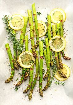 Light and Healthy Roasted Asparagus is an easy side dish to serve with any entree.
