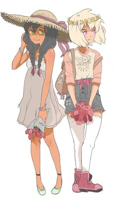 Jade Harley and Rose Lalonde by Glofii on Tumblr, Homestuck