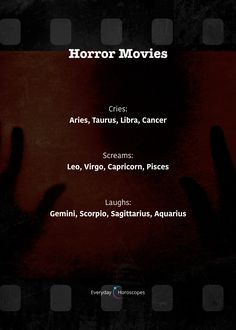 How do you react to horror movies? Zodiac Signs Chart, Zodiac Sign Traits, Zodiac Signs Sagittarius, Zodiac Star Signs, Zodiac Horoscope, My Zodiac Sign, Astrology Signs, Taurus, Karma