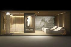 home spa design fuorisalone milano 2012 Pool Home Spa Room, Spa Day At Home, Spa Rooms, Spa Design, Spa Interior Design, Saunas, Sauna Steam Room, Sauna Room, Pool Spa