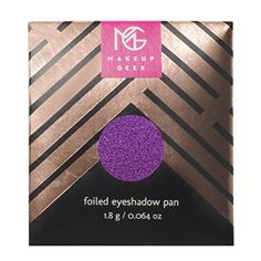 Makeup Geek Foiled Eyeshadow Pan is a creamy eyeshadow with a foiled metallic finish. Coating the eyes in sumptuous metallic colour, Foiled Makeup Geek Foiled Eyeshadow, Matte Eye Makeup, Duochrome Eyeshadow, Foil Eyeshadow, Creamy Eyeshadow, Pink Eyeliner, Glow Makeup, Highlighter Makeup, Contour Makeup