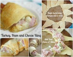 Whips up in minutes, but is beyond delicious!! Ham and Cheese Ring with Crescent Rolls  - beautyandbedlam.com
