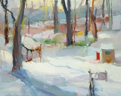 Christine Lafuente -  Backyard Snow, Late Afternoon