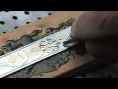 nice video of hand engraving with push gravers