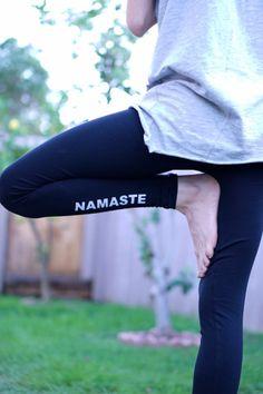 Yoga Leggings - Namaste Leggings - Yoga Pants - Yoga - Yoga Legging - Yoga Leggins - Women's Yoga Leggings - Black Yoga Leggings