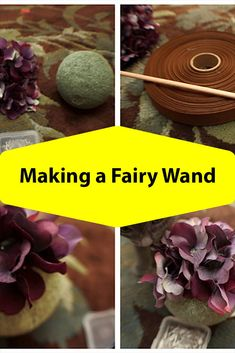 How to make a fairy flower wand.have a tulle wand? A pom pom wand? Need something different for the fairy in your life? Make her a do it yourself fairy wand. Diy Crafts For Adults, Adult Crafts, Easy Diy Crafts, Diy Craft Projects, Creative Crafts, Craft Tutorials, Diy For Kids, Crafts To Make, Fun Crafts