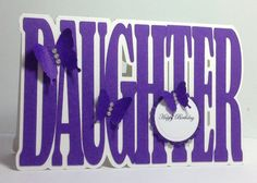 Daughter birthday card personalised by LouisesCardsandGifts