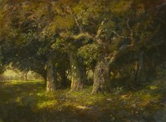 William Keith (Scottish/American, 1838-1911) Study of Oaks