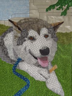 """Kodiak"" by Terry Aske Art Quilts Dog Quilts, Cat Quilt, Animal Quilts, Mini Quilts, Wildlife Quilts, Photo Quilts, Landscape Quilts, Quilting Projects, Art Quilting"