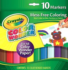 Color Wonder Mess Free Coloring Markers 10-Pack Crayola