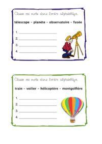 Classement ordre alphabétique - Allycole