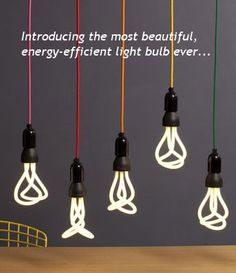 The first designer low energy light bulb. This is a cool website for you sustainability junkies.