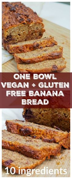 Hate to clean up a mess when baking? No such problem here. Only ONE bowl needed for this vegan + gluten free banana bread with dark chocolate chips. A super moist and light banana bread recipe with just a hint of sweetness and rich chocolately flavor. |avocadopesto.com