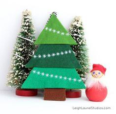 DIY Felt Christmas Tree : DIY Felt Tree Ornament