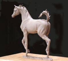 Diva 4 - ARABIAN LIFE SIZE BRONZE FOAL SCULPTURES BY J. ANNE BUTLER - Gallery - Arabian Horse Breeders Network