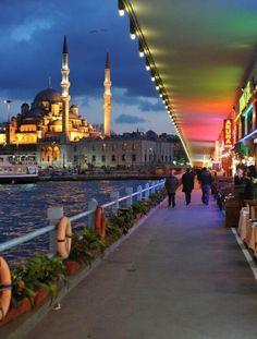Under the Galata Bridge, Istanbul, Turkey