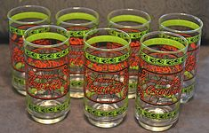 7 Coca-Cola tumblers (there used to be 8 - oops, my bad! Christmas Gifts For Him, Christmas Sale, Coca Cola Glasses, Pink Drinks, I Am Bad, My Etsy Shop, Buy And Sell, Mugs, Tableware