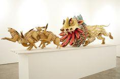 """aj fosik wood sculptures beasts """"the hype br""""  http://thehypebr.com/2012/11/23/aj-fosik-e-a-suas-feras-feitas-em-madeira/"""