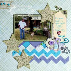 scrapbook layout with chevrons