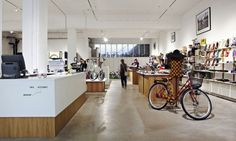 Studio Henny van Nistelrooy Product and spatial design. Bike Room, Shop Counter, Counter Design, Bicycle Shop, Shop Around, Cool Bicycles, Studio, Table, Boutiques