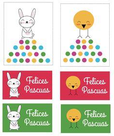 Easter printable. Imprimibles para Pascua http://manualidades.euroresidentes.com/2014/04/cajitas-imprimibles-para-pascua.html
