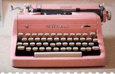 vintage pink typewriter  (love typewriters, unfortunately they don't have spell check)