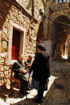 Mesta village in Chios island, Greece. Chios Greece, Crete, Zorba The Greek, Santorini Villas, Myconos, Go Greek, Greece Islands, Greece Travel, Beach Fun