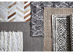 Marilla Shag Rug, White/Silver   Warm Up Your Floors   One Kings Lane