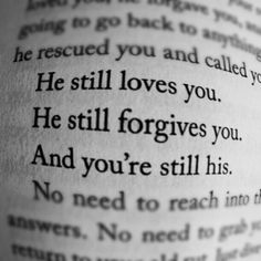 You're still His no matter what